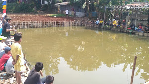 Relawan Calon Kepala Desa Babakan Nomor Urut 03 Adakan Mancing Mania