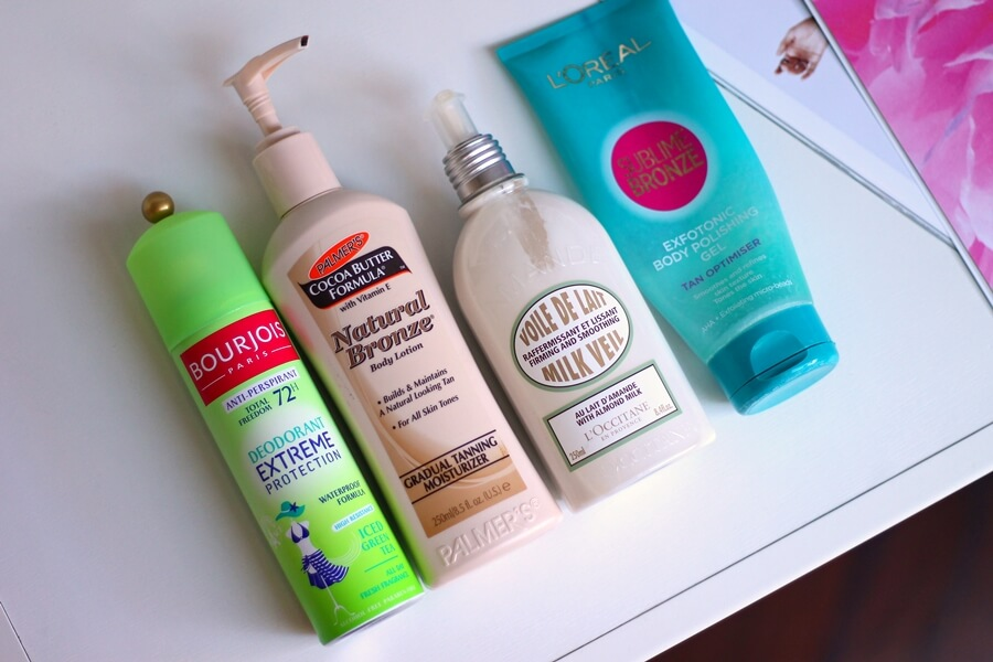 bourjois deodorant extreme protection, palmers natural bronze gradual tanning moisturizer, loccitane badem maglica, loreal exfotonic review recenzija