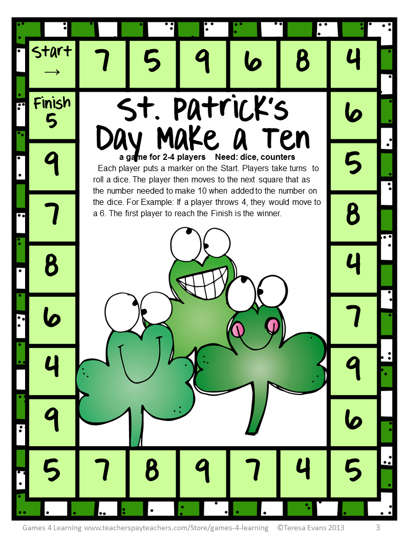 St Patricks Day Printable Games