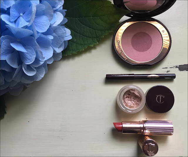 My Midlife Fashion, Charlotte tilbury sex on fire blusher, charlotte tilbury jean eyeshadow, charlotte tilbury eye liner, charlotte tilbury so marilyn lipstick