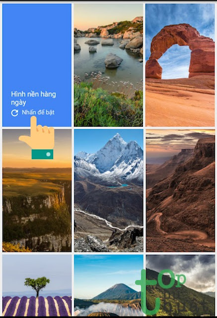 Thủ thuật đặt hình nền tự thay đổi hàng ngày trên điện thoại Android