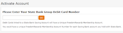 First Step of SBI Freedom Rewardz Sign up