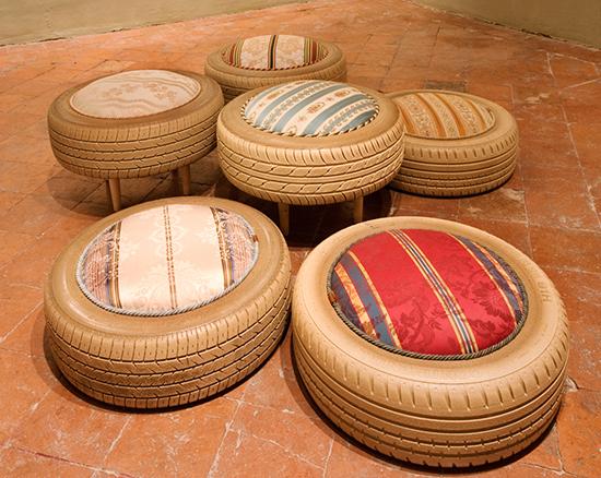 contoh sofa dari ban bekas