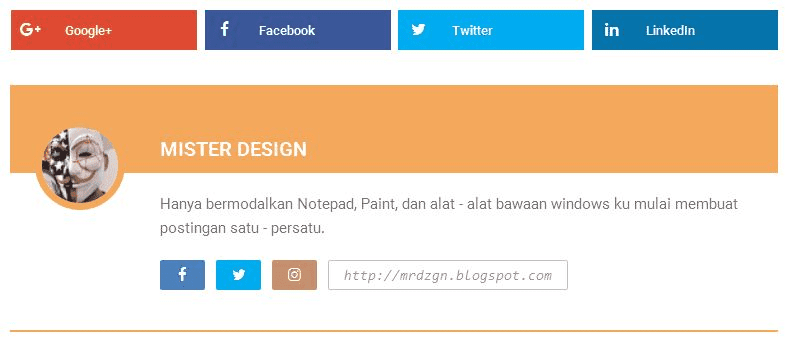 Contoh penerapan widget author post