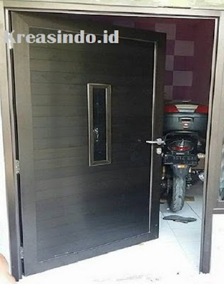 Harga Pintu panel Aluminium Warna Coklat