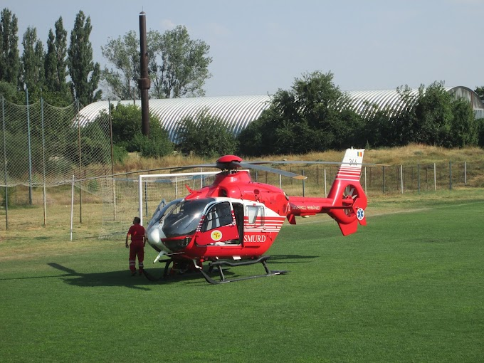 Elicopterul SMURD din nou la o interventie la Calafat