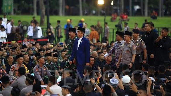 Heboh Video Jokowi Ditinggal Pasukan