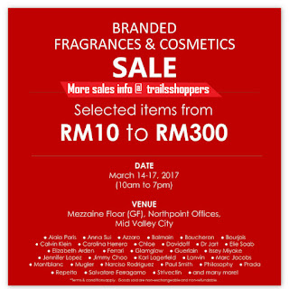 Branded Fragrances & Cosmetics Sale 2017 CK Chloe n more
