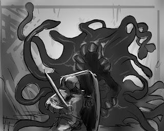 tutorial, art tutorial, photoshop tutorial,illustration, fantasyart, art, douglas deri, deri,creature design,paint,photoshop,sketchbook, fantasyart, swamp montser, como desenhar, aula