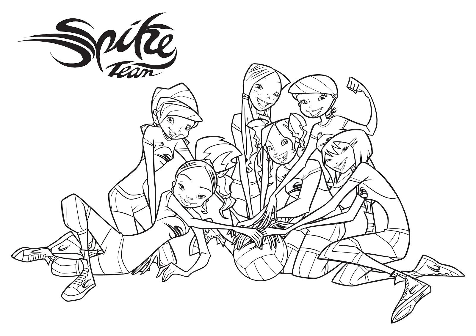 Spike Team Desenhos Para Colorir