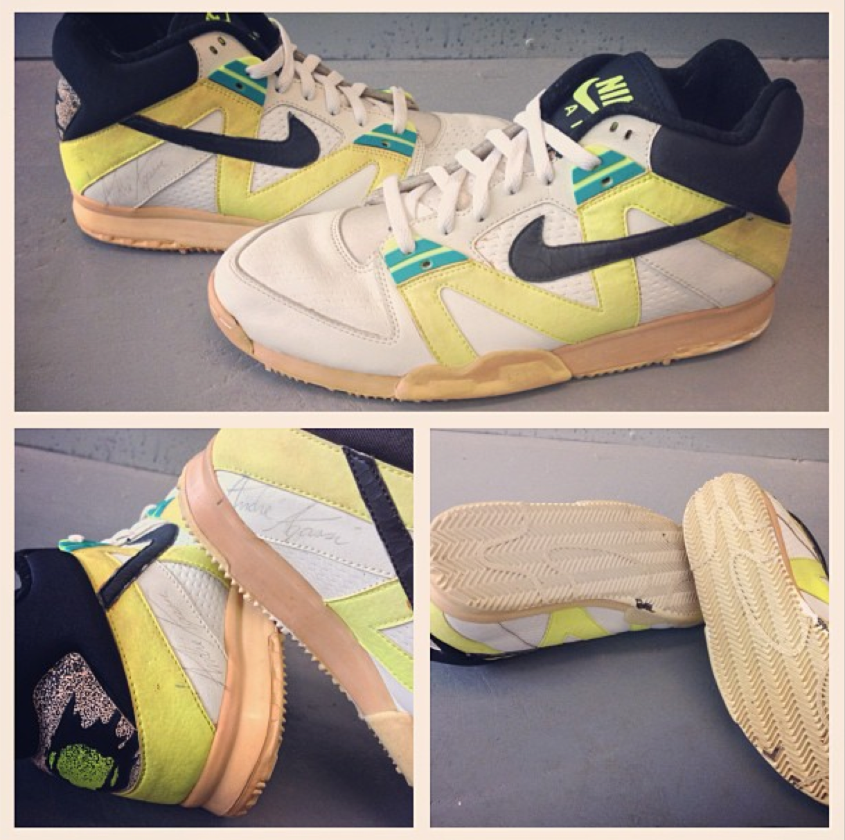 designer fashion 41626 304ae Nike Air Tech Challenge III Andre Agassi French Open player edition (match  worn and signed from 1990!) Different midsole outsole from the regular