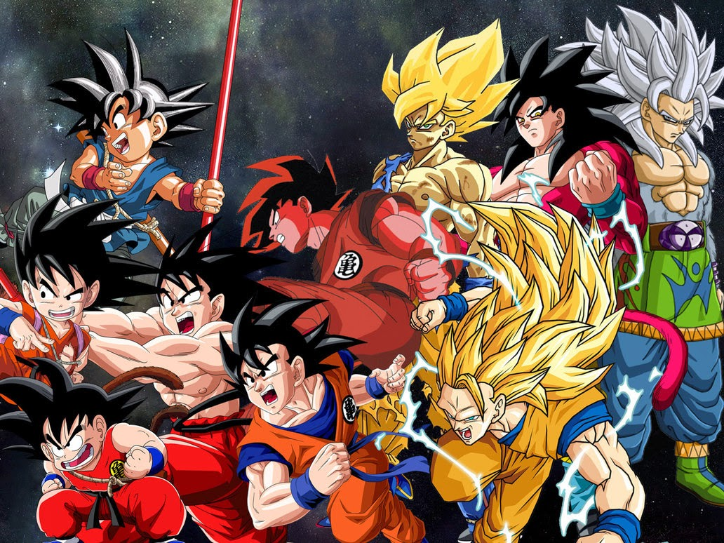 Kumpulan Sketsa Gambar Goku
