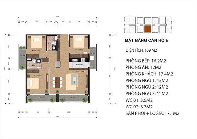 Thiết kế căn hộ E chung cư One 18 Ngọc Lâm