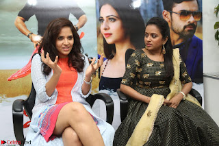 Actress Suma in Black Salwar Suit and Anusuya in orange Dress at winner movie press meet part 2 February 2017 (11).JPG