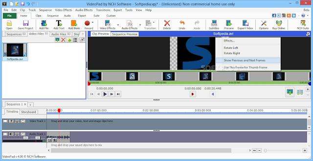 تحميل برنامج تعديل الفيديو واضافة المؤثرات للكمبيوتر VideoPad Video Editor 4.44 Beta