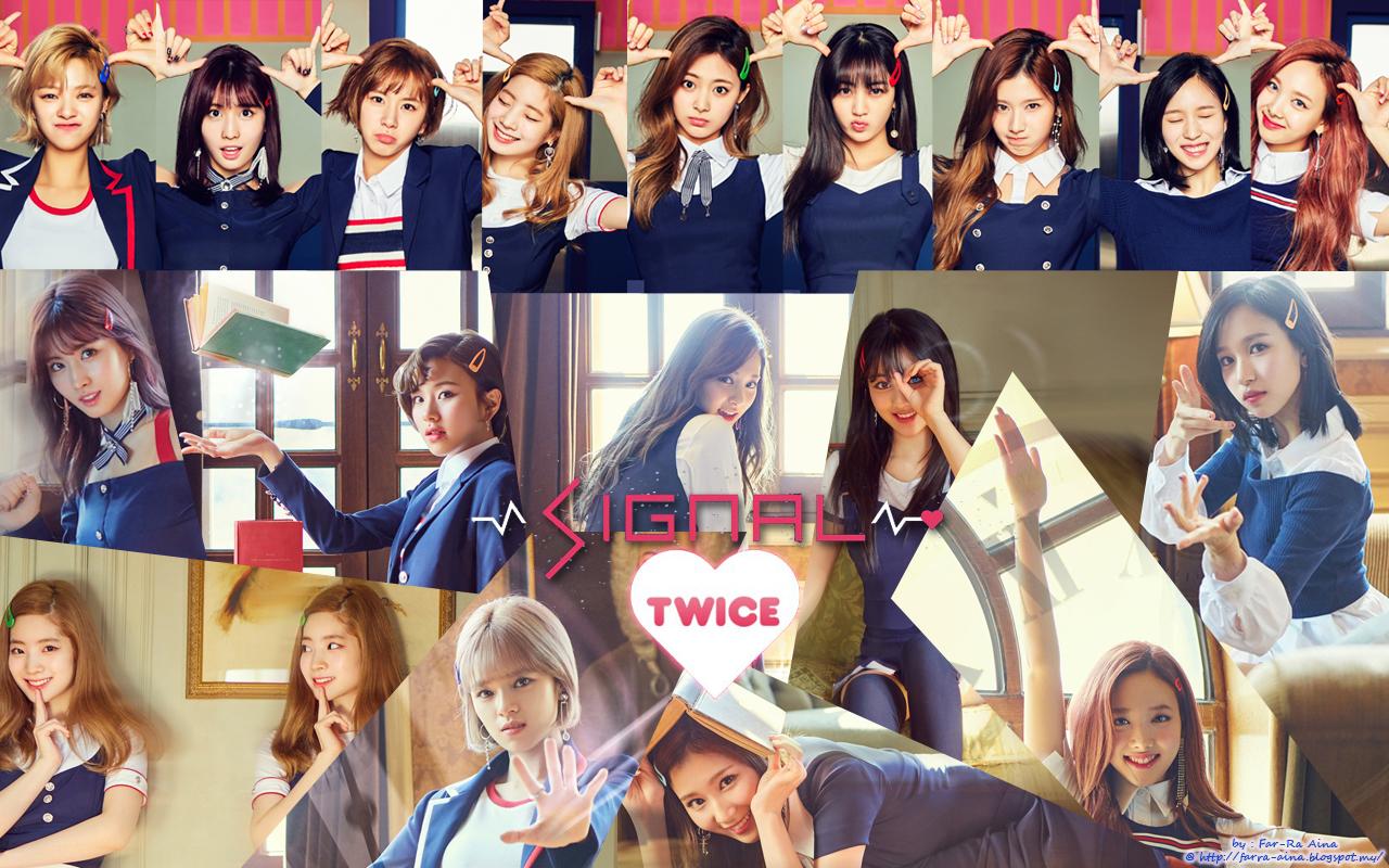 K Pop Lover Twice Signal Wallpaper