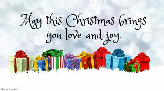 may this christmas brings you love and joy card