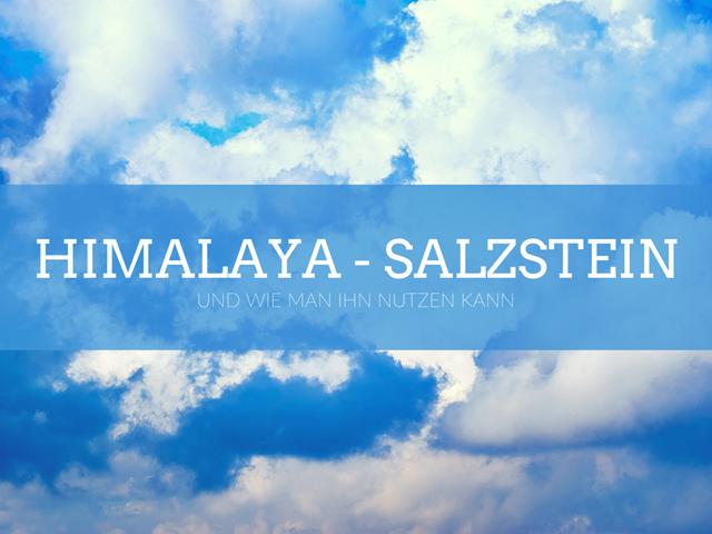 Himalaya-Salzstein und die Anwendung