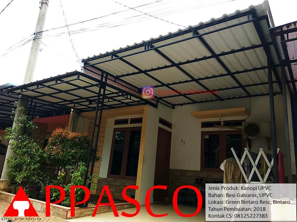 Kanopi Minimalis Modern Atap UPVC di Green Bintaro Residence - Bintaro