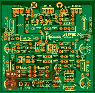PCB Layout Power Amplifire APEX  A9