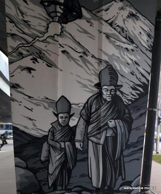 Warszawa Warsaw Wola Rondo Tybetu mural graffiti Fundacja Inna Przestrzeń