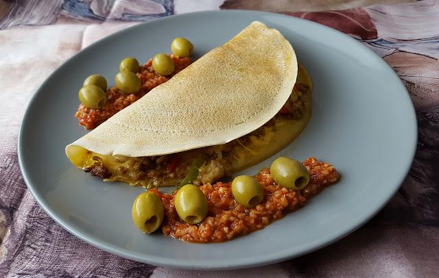 Quesadilla z mięsem mielonym zapiekana w piekarniku