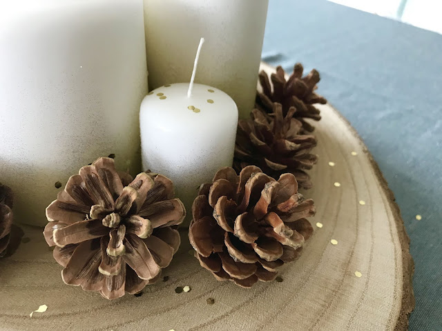 DIY deco de noel centre de table