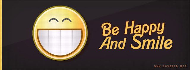 Be Happy And Smile Fb Cover