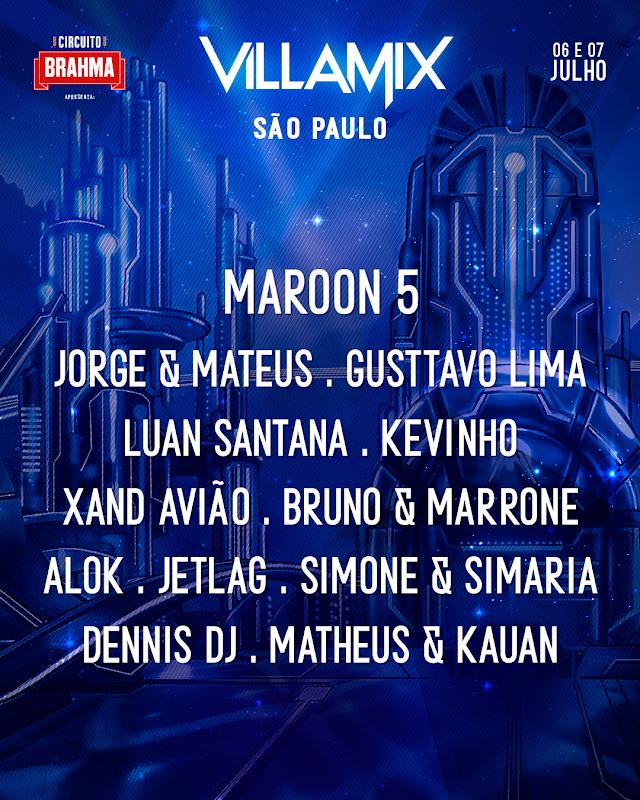 Confira: Maroon 5 no Brasil em Julho em um VillaMix reformulado