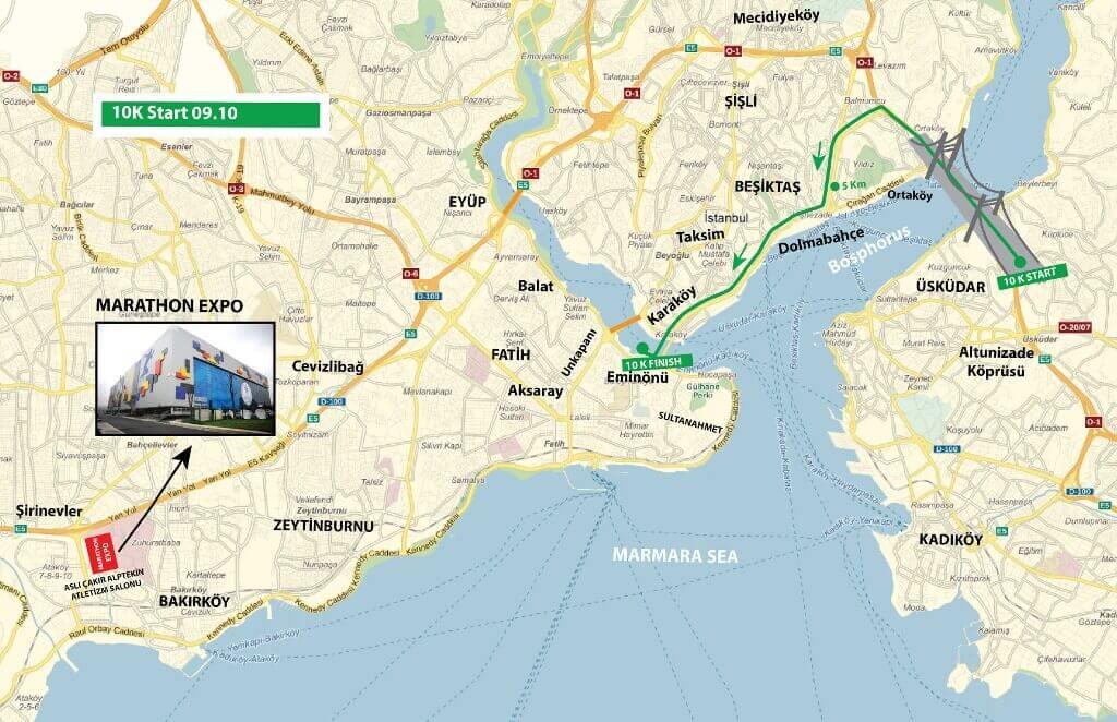 Percurso Maratona de Istambul