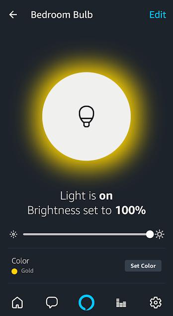 Screenshot of the Alexa mobile app