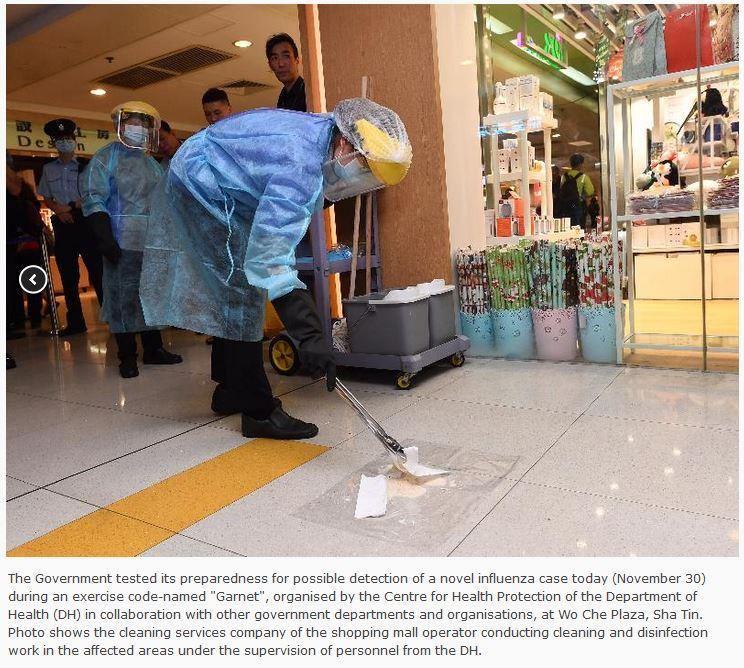 Avian Flu Diary: Hong Kong Holds Novel Flu Pandemic