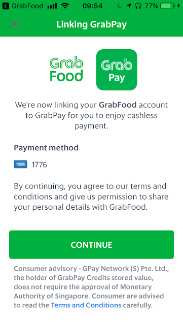 Link GrabPay to GrabFood