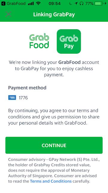 Link GrabPay to GrabFood