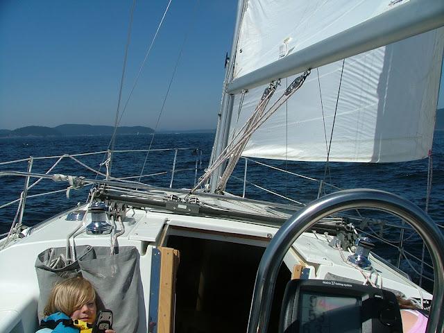 crossing Strait of Juan De Fuca