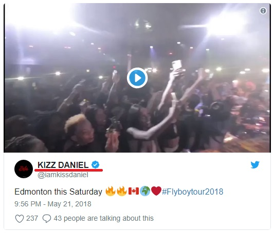 Nigerian Artist Kiss Daniel Changes His Name To Kizz Daniel