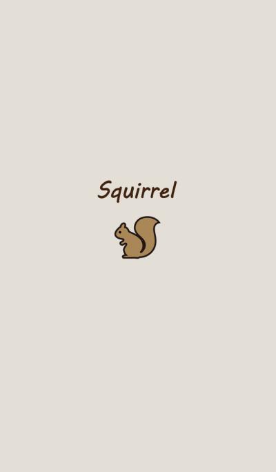 Minimalist classic horse squirrel