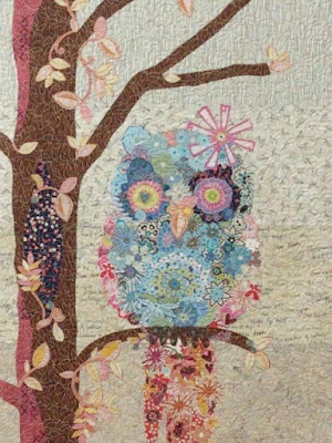 Cora Common Owl Collage pattern by Laura Heine