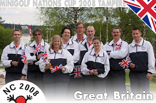 The 2008 Great Britain team - Jouni Valkjarvi (coach), John 'Big Top Ted' McIver, Marion 'Mation' Homer, Sean 'Freebird' Homer, Tim 'Ace Man' Davies, Steve 'F1' Gow, Emily 'Lemony' Gottfried, Andy 'Sarge' Booth, 'Squire' Richard Gottfried