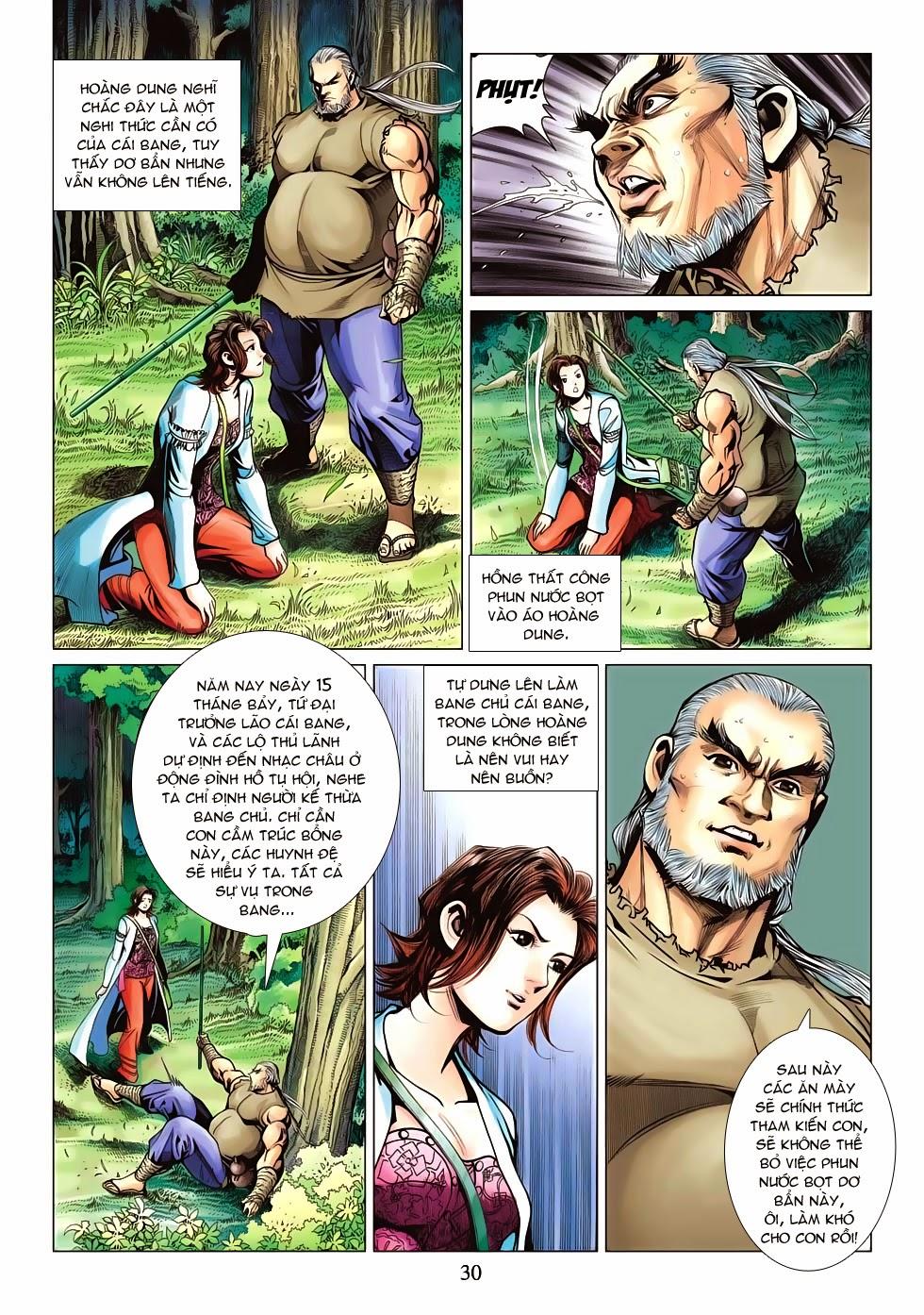 Anh Hùng Xạ Điêu anh hùng xạ đêu chap 53: lâm nguy thụ mệnh đả cẩu học pháp trang 31