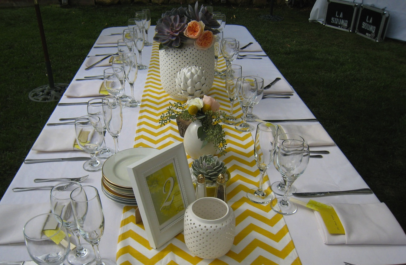Chevron Wedding Decorations