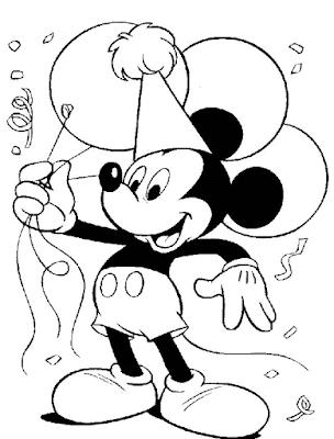 Gambar Mewarnai Mickey Mouse - 10