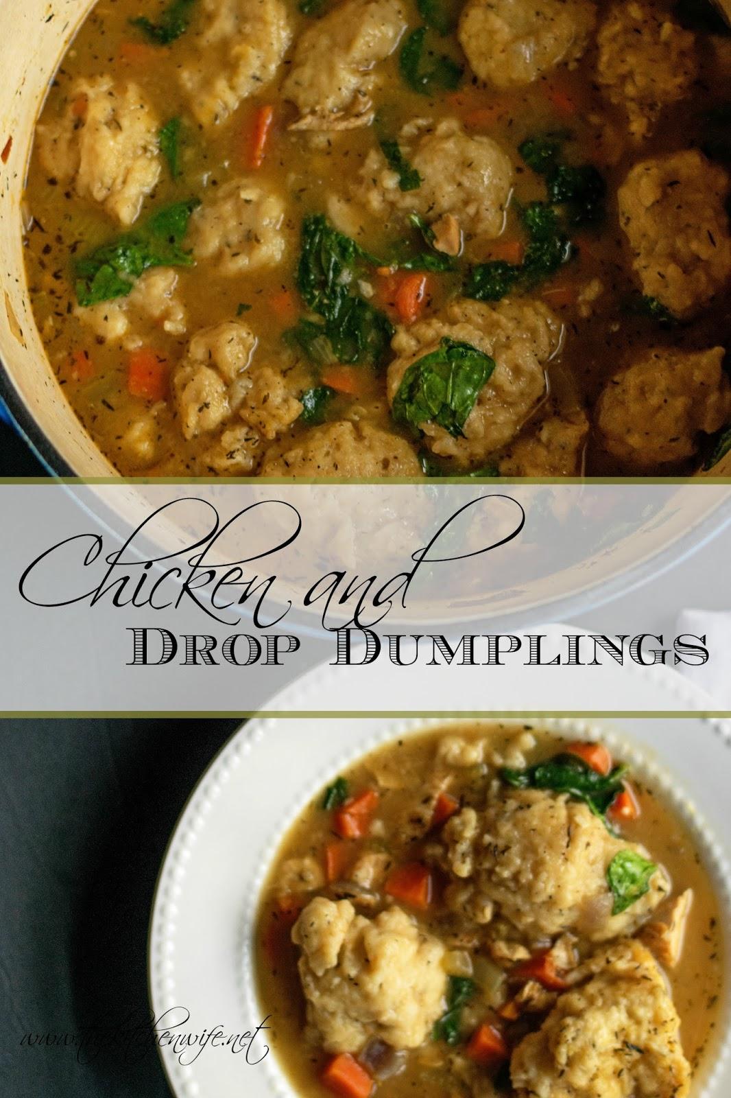 recipe: chicken and drop dumplings from scratch [16]