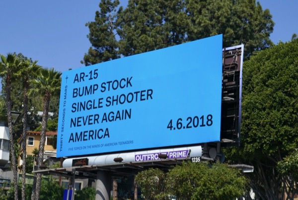 Thirty Seconds to Mars Never Again America billboard