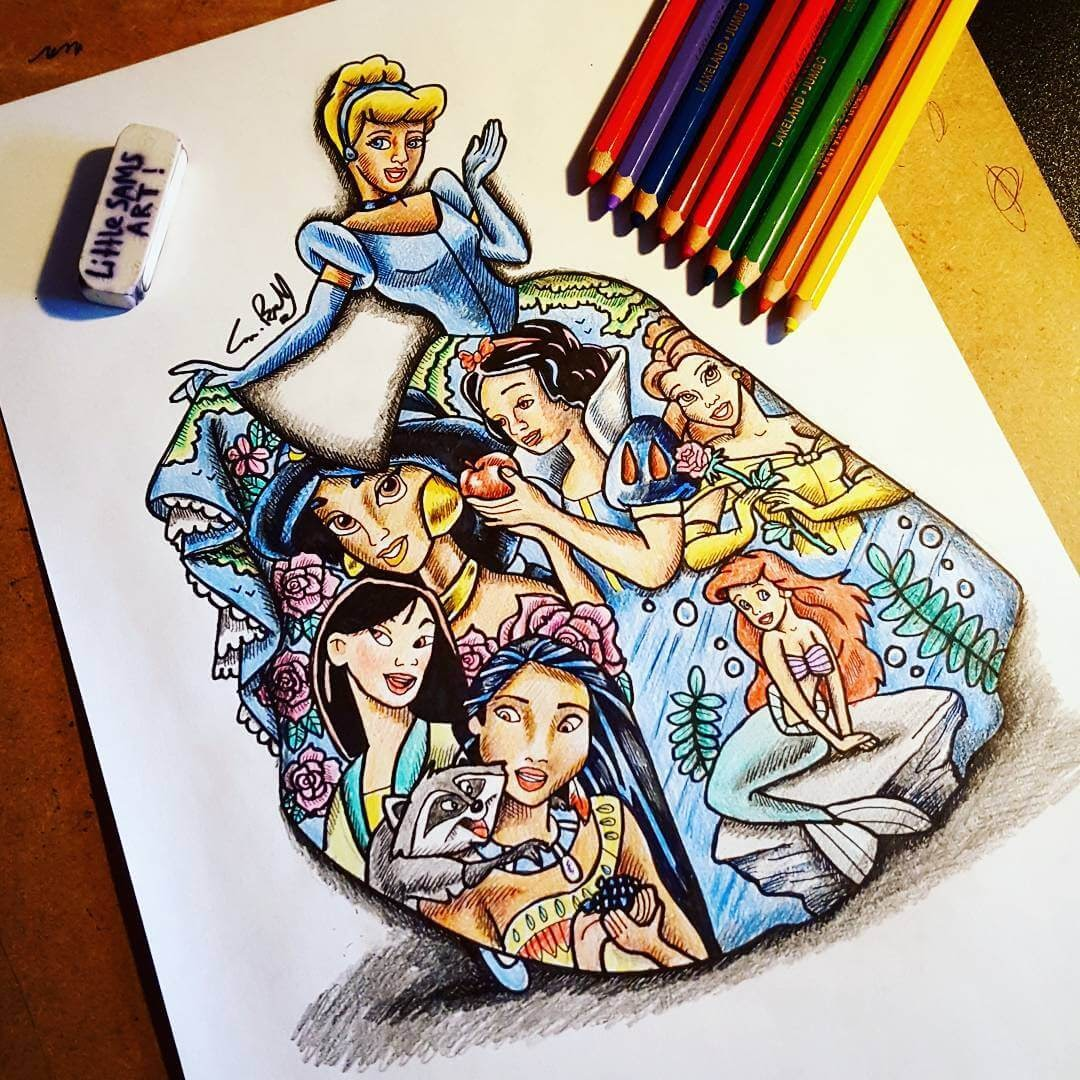 07-Disney-Princess-S-Brunell-Movie-Drawings-within-Drawings-www-designstack-co