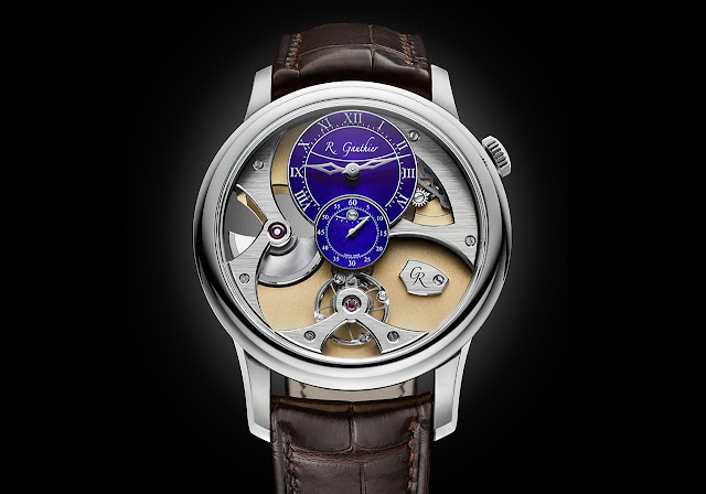 Romain Gauthier Insight Micro-Rotor White Gold Blue Dial