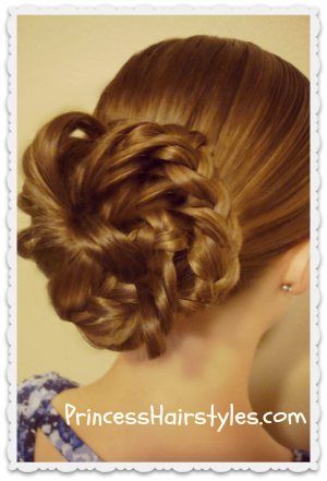 Bunches Of Braides, Bun Hairstyle