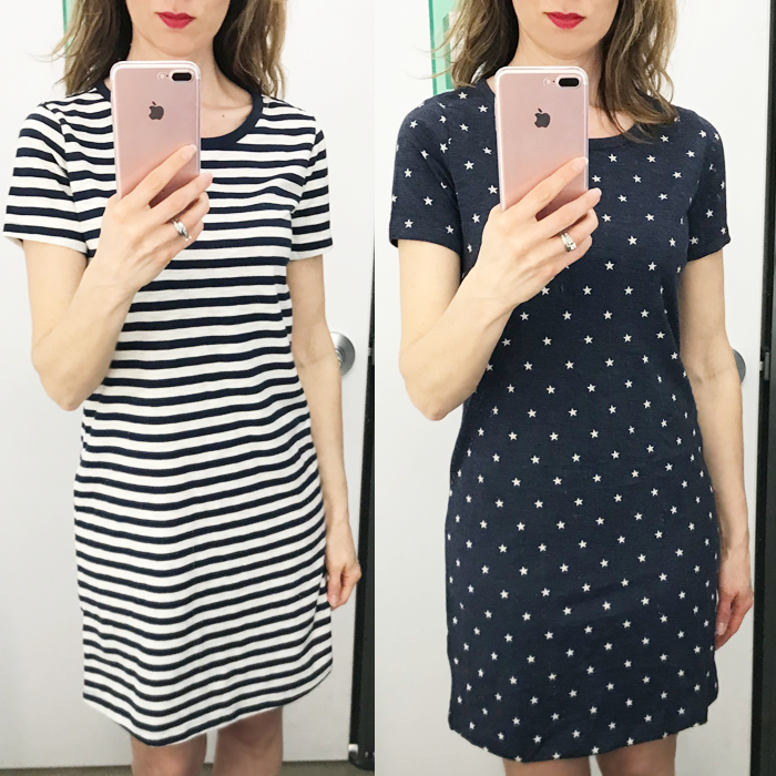tee shirt dress old navy try on session