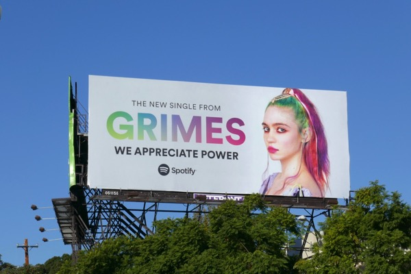 Grimes We appreciate power Spotify billboard