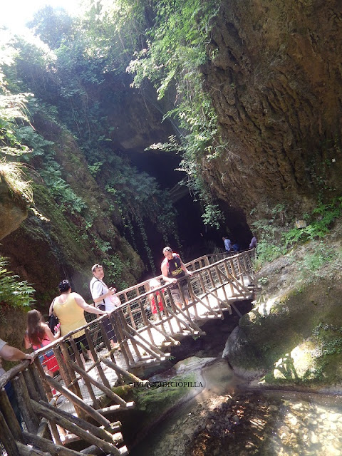 Grotte del Caglieron Ponte sospeso